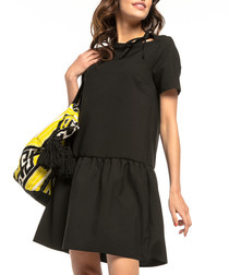 black A-line mini dress