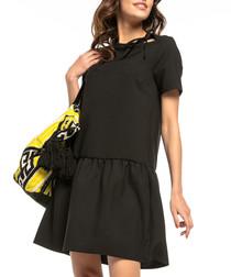 black A-line mini dress