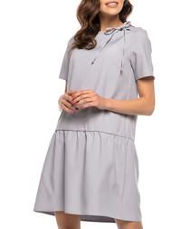 grey A-line mini dress