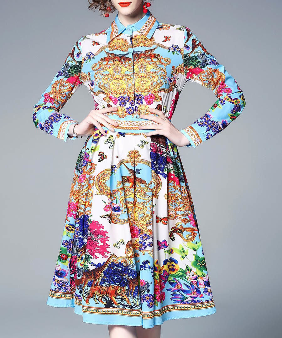 carnival brocade collar dress Sale - Kaimilan