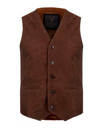 tan sheepskin waistcoat