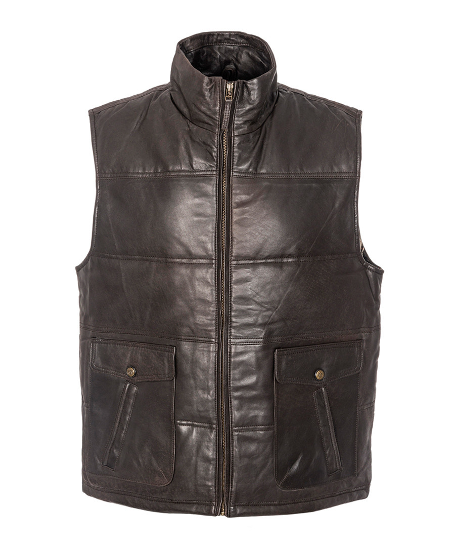 walnut sheepskin padded gilet Sale - woodland leather