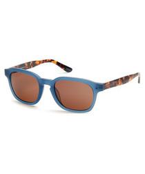 Blue & tortoiseshell sunglasses