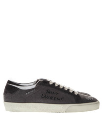 Court Classic black canvas sneakers