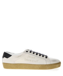 Court Classic cream canvas sneakers