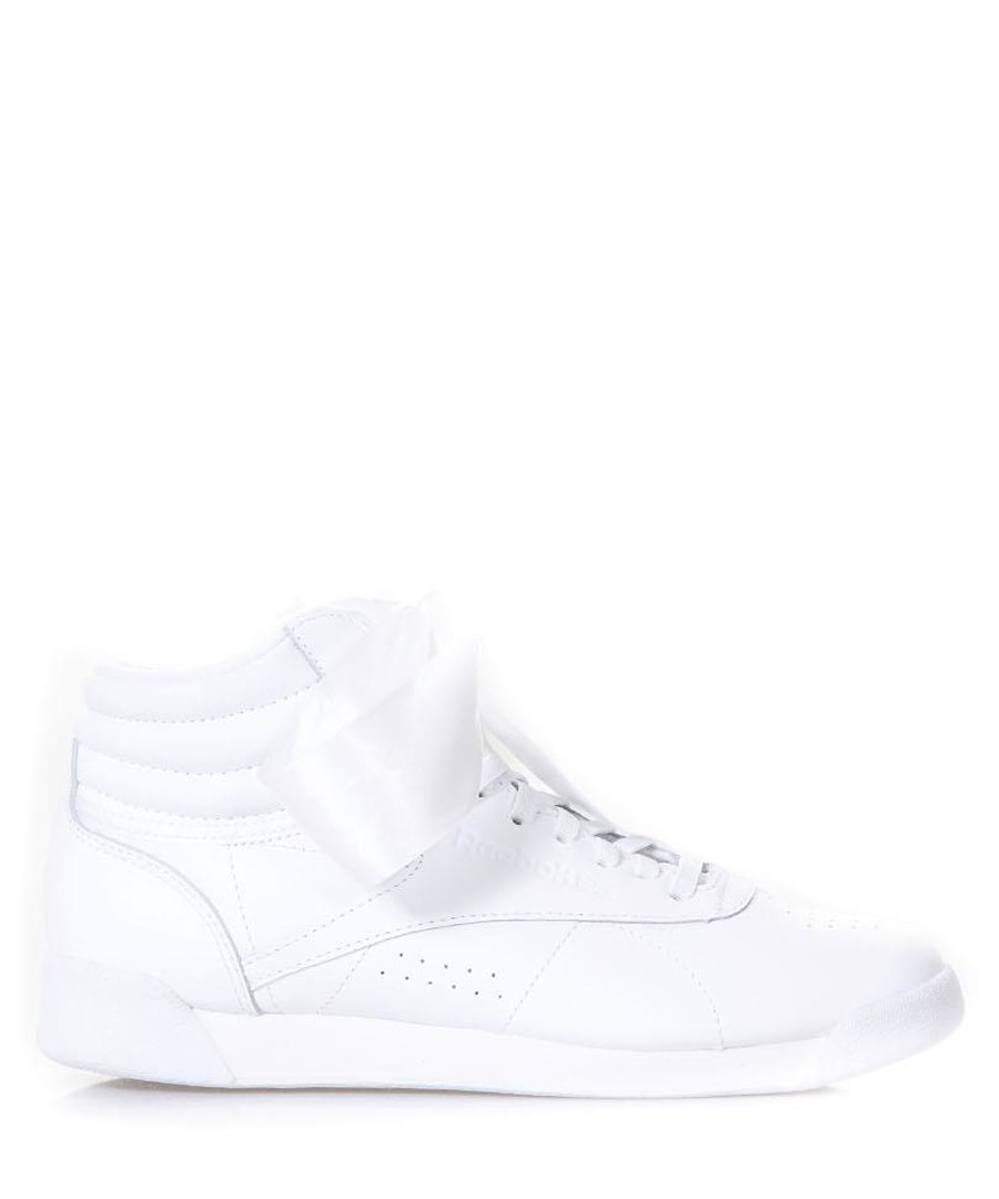 White leather ribbon sneakers Sale - reebok