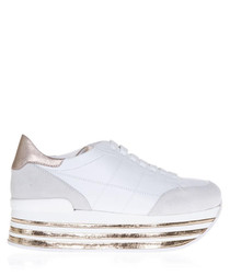 Maxi 222 white suede sneakers