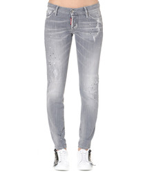 jennifer grey wash cotton slim jeans