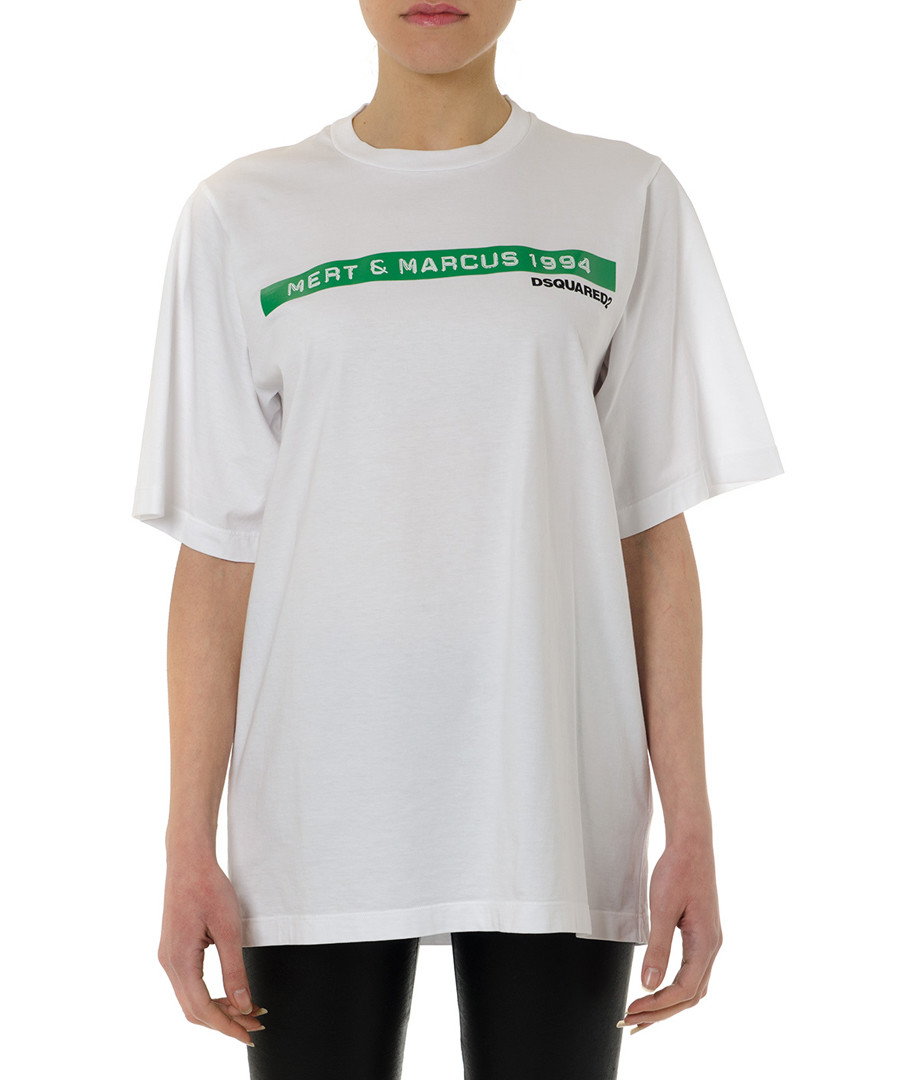 Mert & Marcus white pure cotton T-shirt Sale - dsquared2