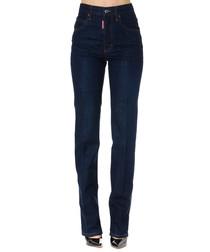 mert and marcus dark blue cotton jeans