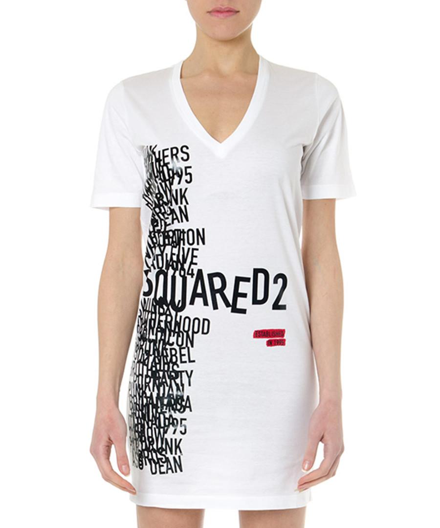 white pure cotton scatter shirt dress Sale - dsquared2