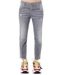 grey wash cotton slim jeans