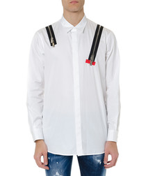 poplin punk white pure cotton shirt
