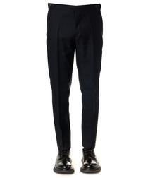 black wool & silk trousers