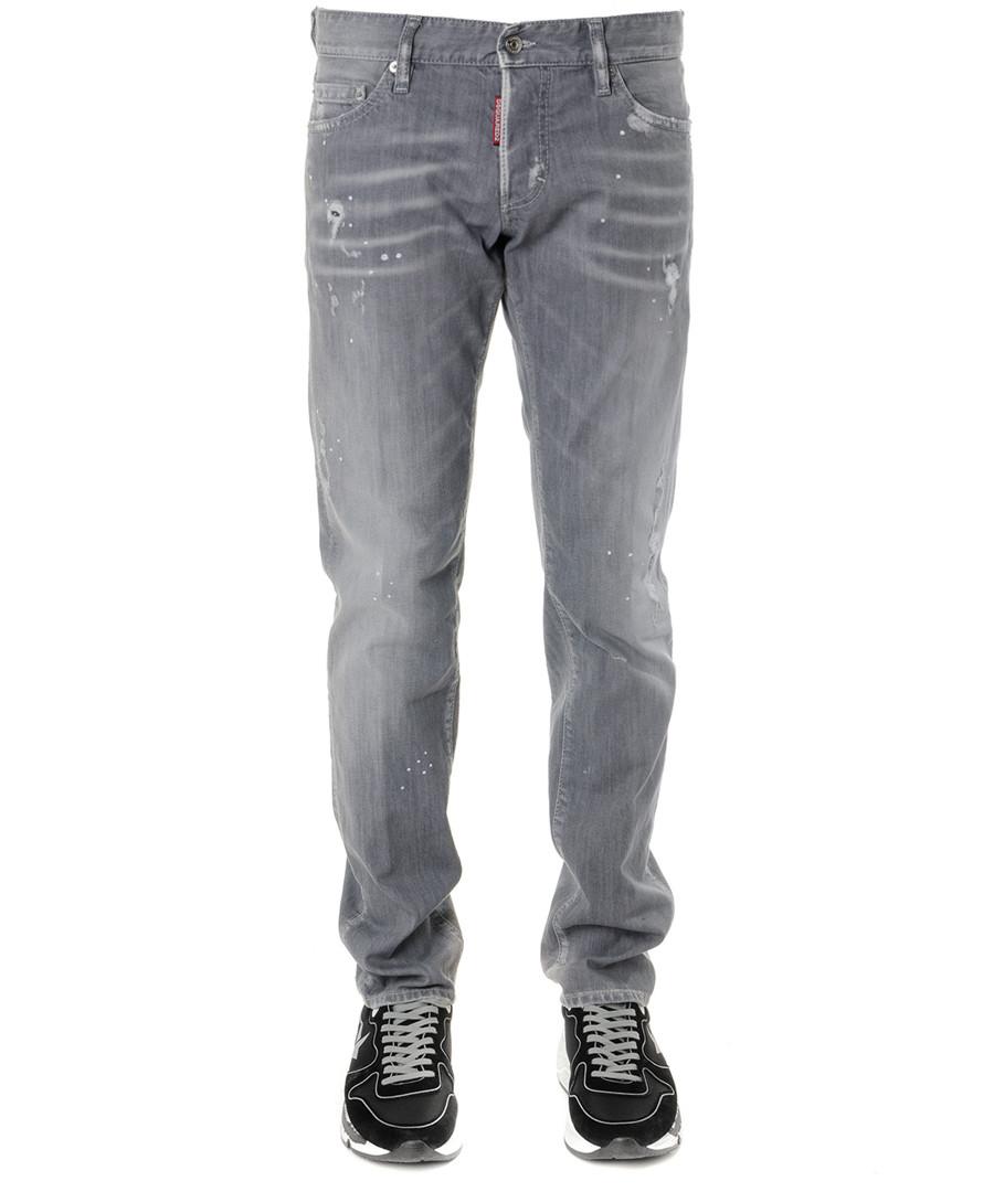 grey cotton slim jeans Sale - dsquared2