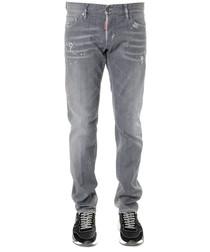 grey cotton slim jeans