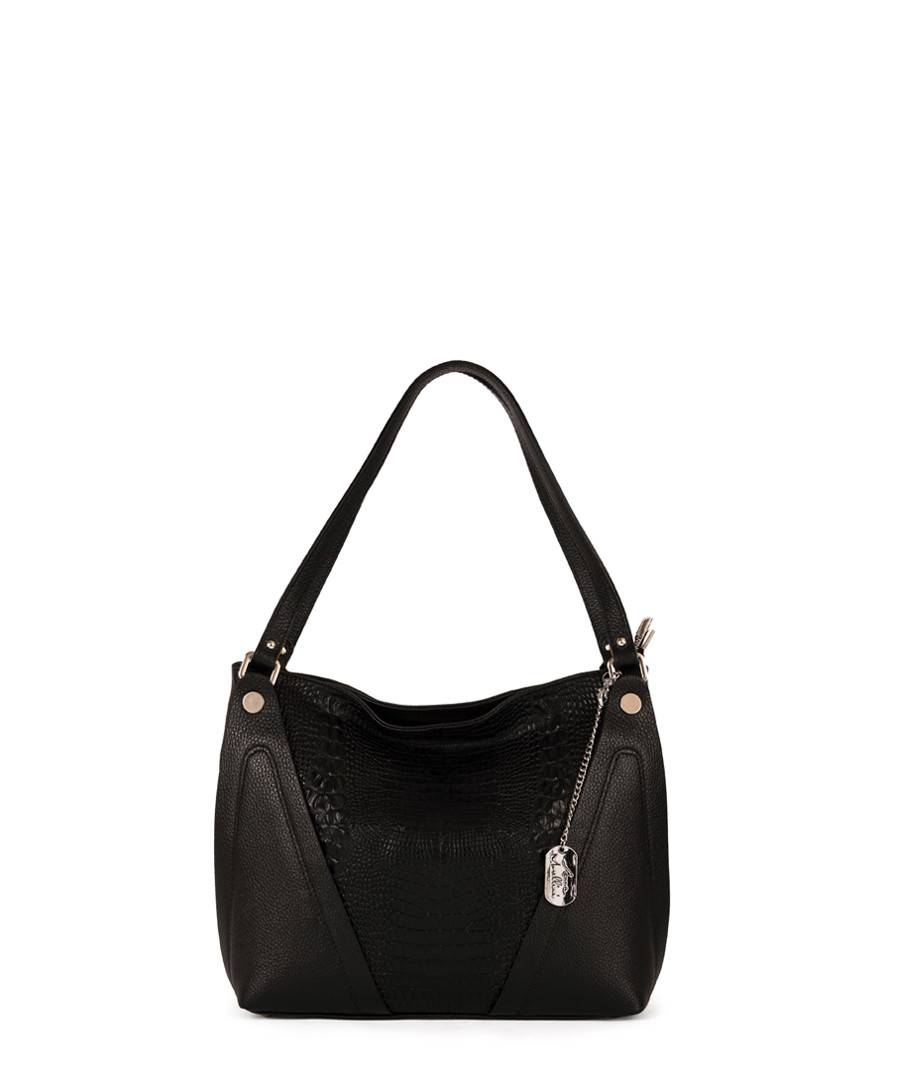 Chiara black leather grab bag Sale - anna morellini