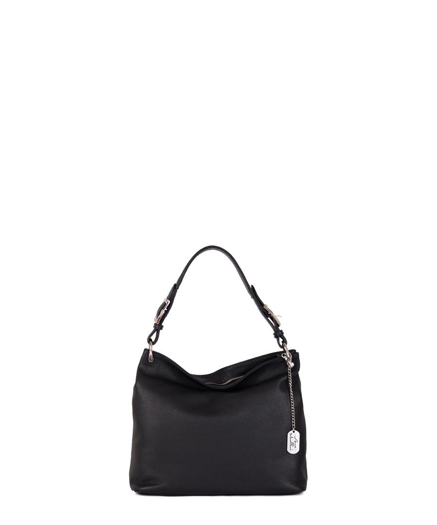 Black leather shopper Sale - anna morellini