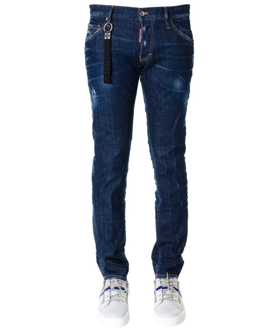 clement dark blue zip jeans Sale - dsquared2