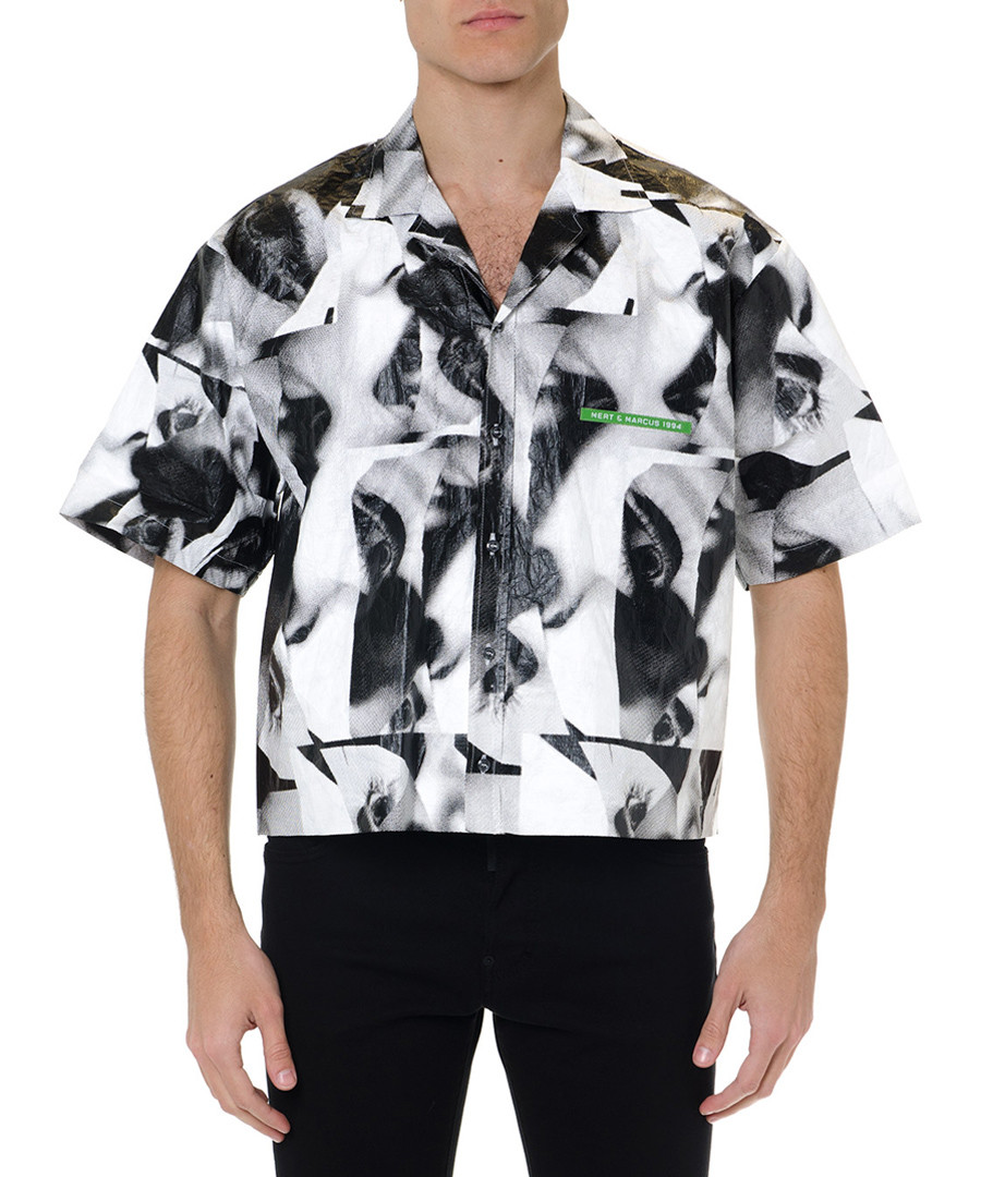 mert & marcus greyscale tile shirt Sale - dsquared2
