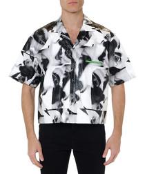 mert & marcus greyscale tile shirt