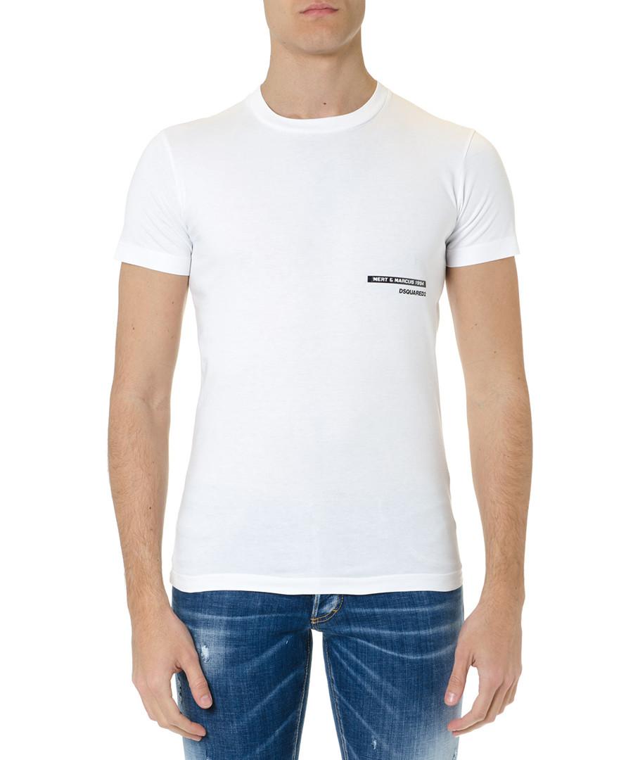 mert & marcus white pure cotton T-shirt Sale - dsquared2