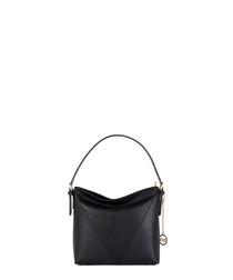 Abbado black leather grab bag