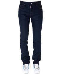 mert & marcus dark blue straight jeans