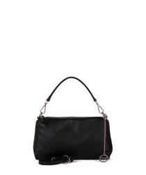 Celentano black leather grab bag