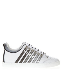 251 white leather sneakers