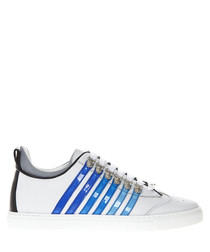 251 white & blue leather sneakers
