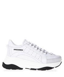 bumpy 551 white leather sneakers