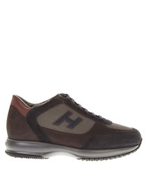 Hogan Interactive brown sneakers