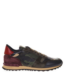 Rockrunner leather & fabric sneakers