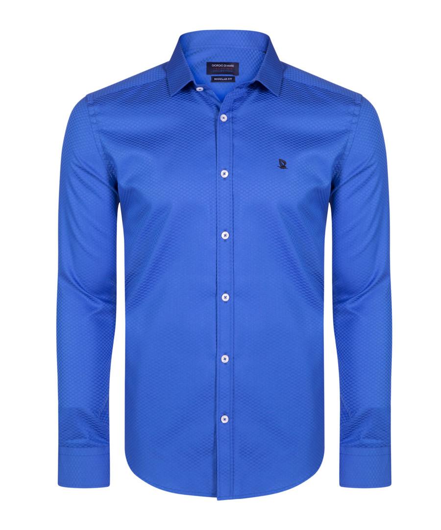 sax blue pure cotton shirt Sale - giorgio di mare