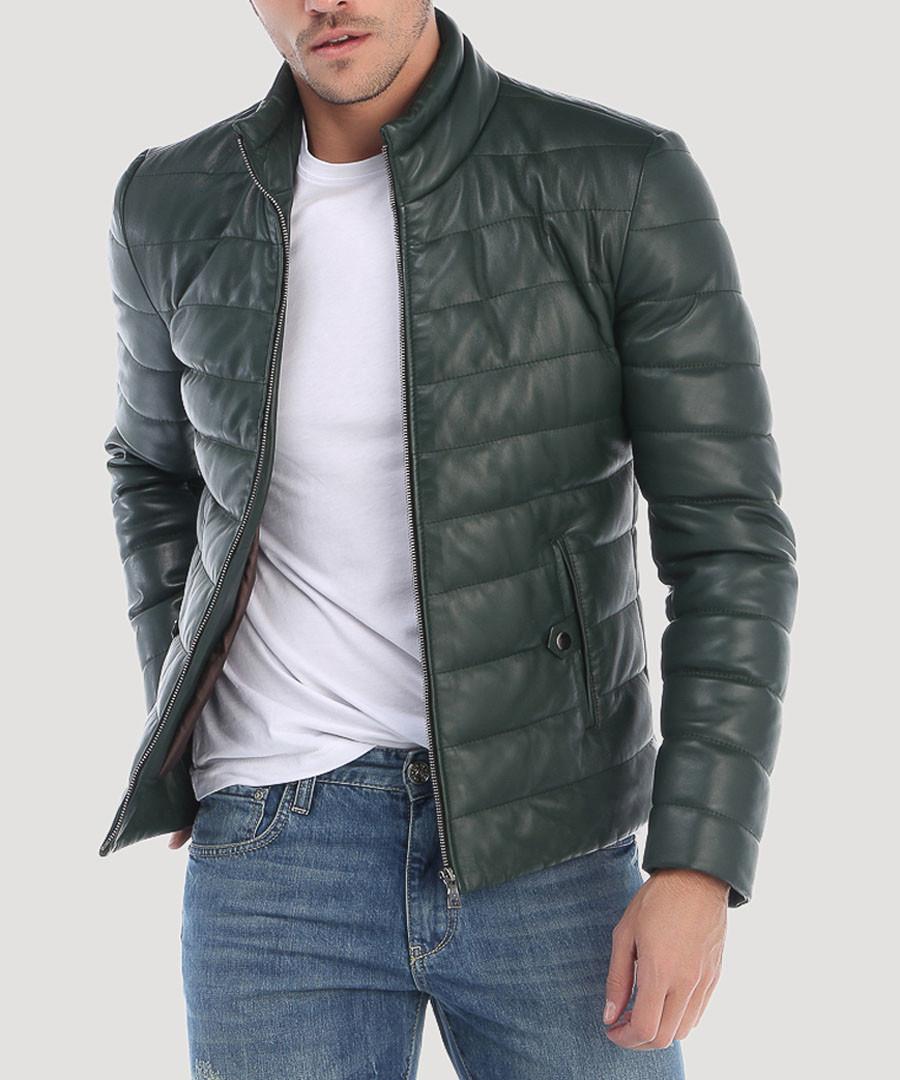 pine leather padded jacket Sale - Giorgio de mare