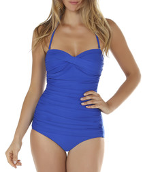Sapphire ruched bandeau swimsuit