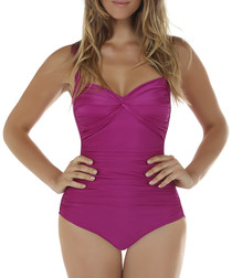 Grape twist front swimsuit