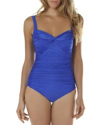 Sapphire twist front swimsuit
