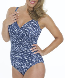 Cassiopia wrap front swimsuit