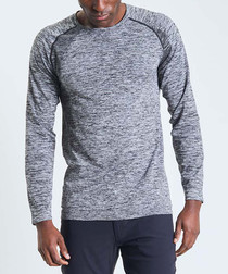 Orion pewter marl long sleeve top