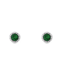 14k gold-plated May birthstone studs