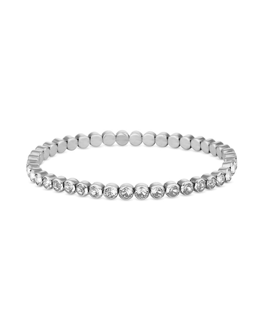 14k white gold-plated tennis bracelet Sale - diamond style