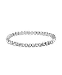 14k white gold-plated tennis bracelet