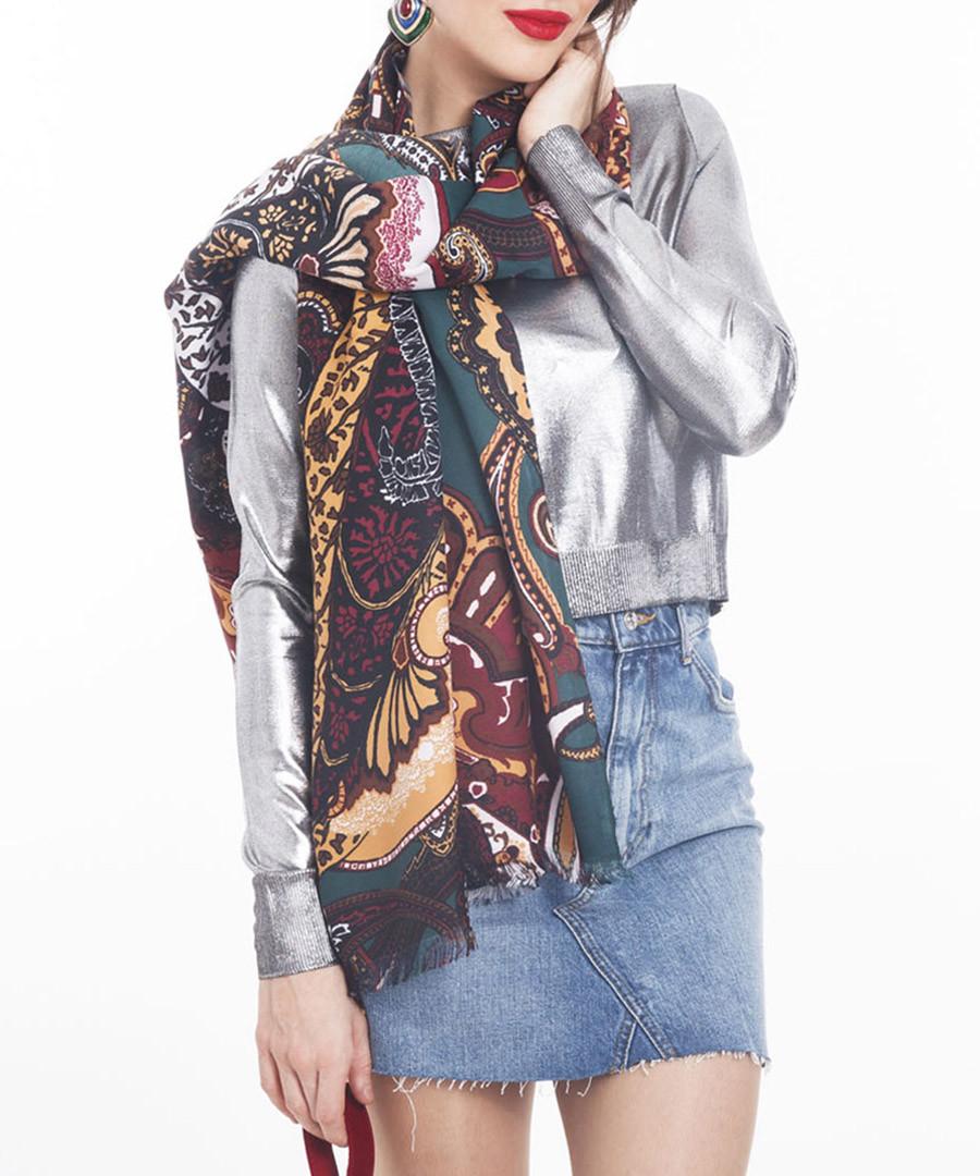 cachemira teal scarf 70 x 180cm Sale - alber zoran