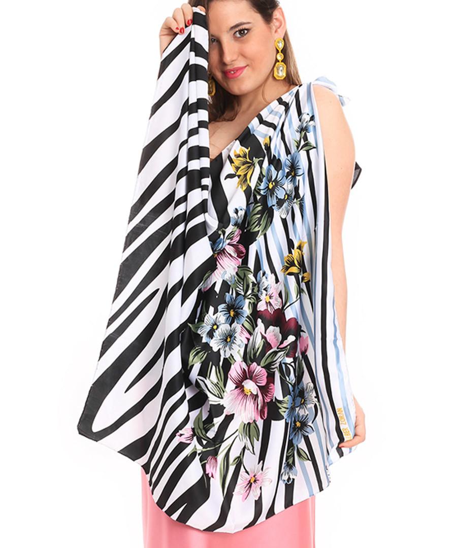 zebra flowers scarf 90 x 90cm Sale - alber zoran