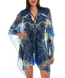 space trip blue kaftan