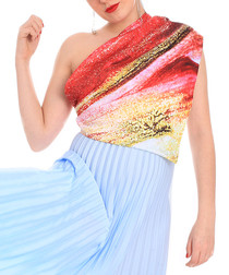 Mars Heaven multi-colour print scarf