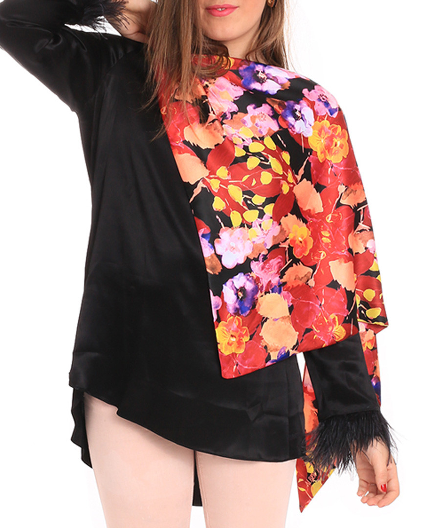 Blooming multi-colour print scarf Sale - alber zoran