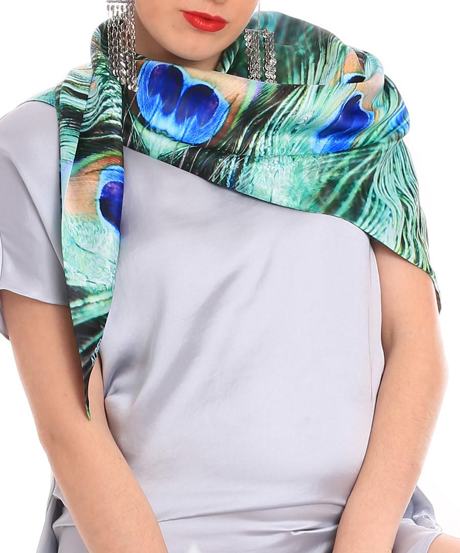 Peacock dream multi-colour print scarf Sale - alber zoran